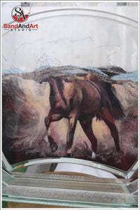 Turn Your Photo into Sand Portrait HORSE Portrait  - FREE SHIPPING