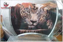 "Load image into Gallery viewer, Custom Pet Portrait from Photo Into Glass Vase by Sand 7.0""x9.8"" FREE SHIPPING"