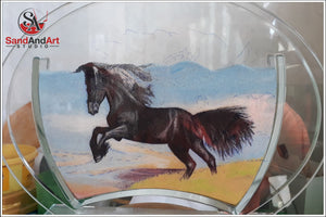 "Personalize Your Picture into Glass Vase by Sand 7.0""x9.8"" - FREE SHIPPING"