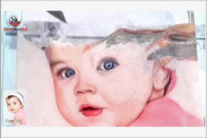 Custom Baby Portrait from Photo - FREE SHIPPING