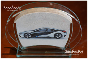 "Your Photo Into Glass Vase by Sand  5.11"" x 7.0""  - FREE SHIPPING"