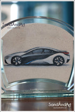 "Load image into Gallery viewer, Your Photo Into Glass Vase by Sand  5.11"" x 7.0""  - FREE SHIPPING"