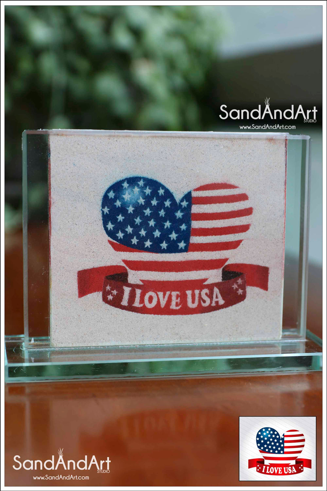 Custom Your Photos into Glass Vase by Sand 3.5