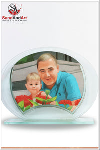 "Upload Your family Photo and Get A Sand Portrait 7.8""X9.8"" -FREE SHIPPING"