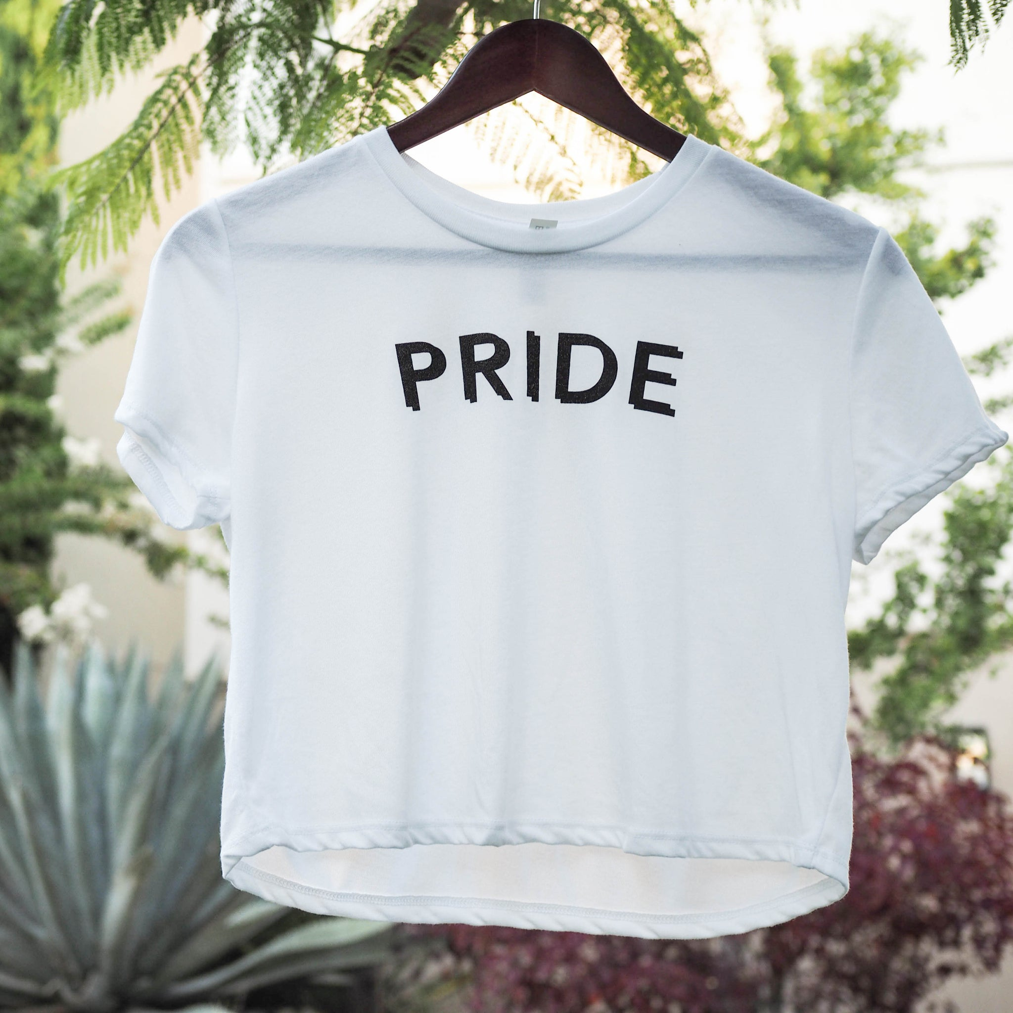 Pryde, spelled correctly... (Flowy Crop Tee)