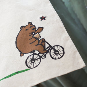 Boba Bear on a Bicycle!
