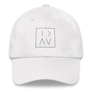 GT BOX DAD HAT - BLACK STITCH