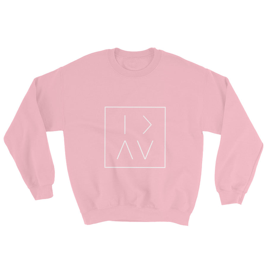 GT L Box Crewneck - White Print