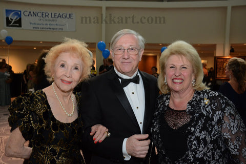 Eva Makk, A.B. Makk and Edie Marks at the Cancer League Hope Ball 2014