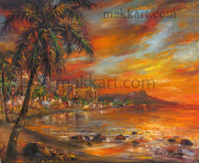 Load image into Gallery viewer, Gold Kissed Waikiki by Eva Makk