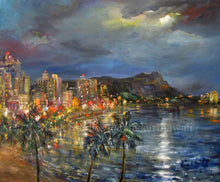 Load image into Gallery viewer, Waikiki Lights by Eva Makk