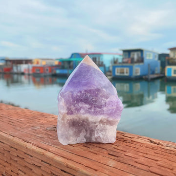 get right to the point -- RAW amethyst point