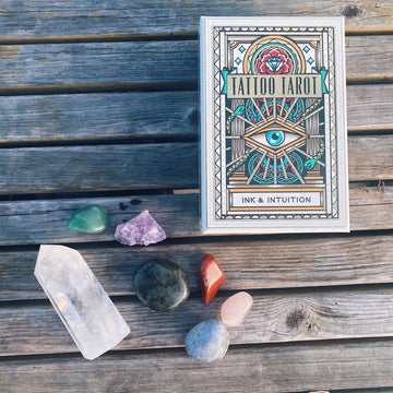THE NEW YEAR OF MAGICAL THINKING + ACTION -- TATTOO TAROT DECK + INTENTION-SETTING CRYSTALS
