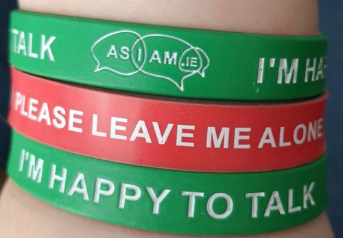 AsIAm Communication Wristband - Reversible (Pack of 100)