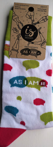 AsIAm Socks - White - Size 3-7 (adult)