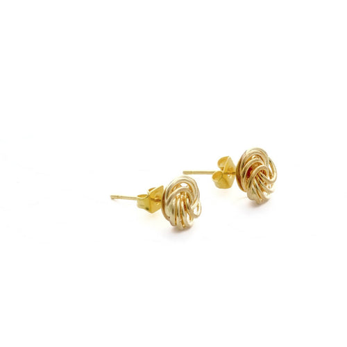 Love Me Knot Gold Stud Earrings