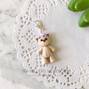 Teddy Bear with Flower Crown