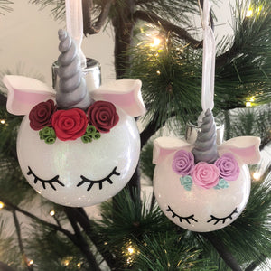 magical unicorn bauble - Unicorn Christmas Decorations
