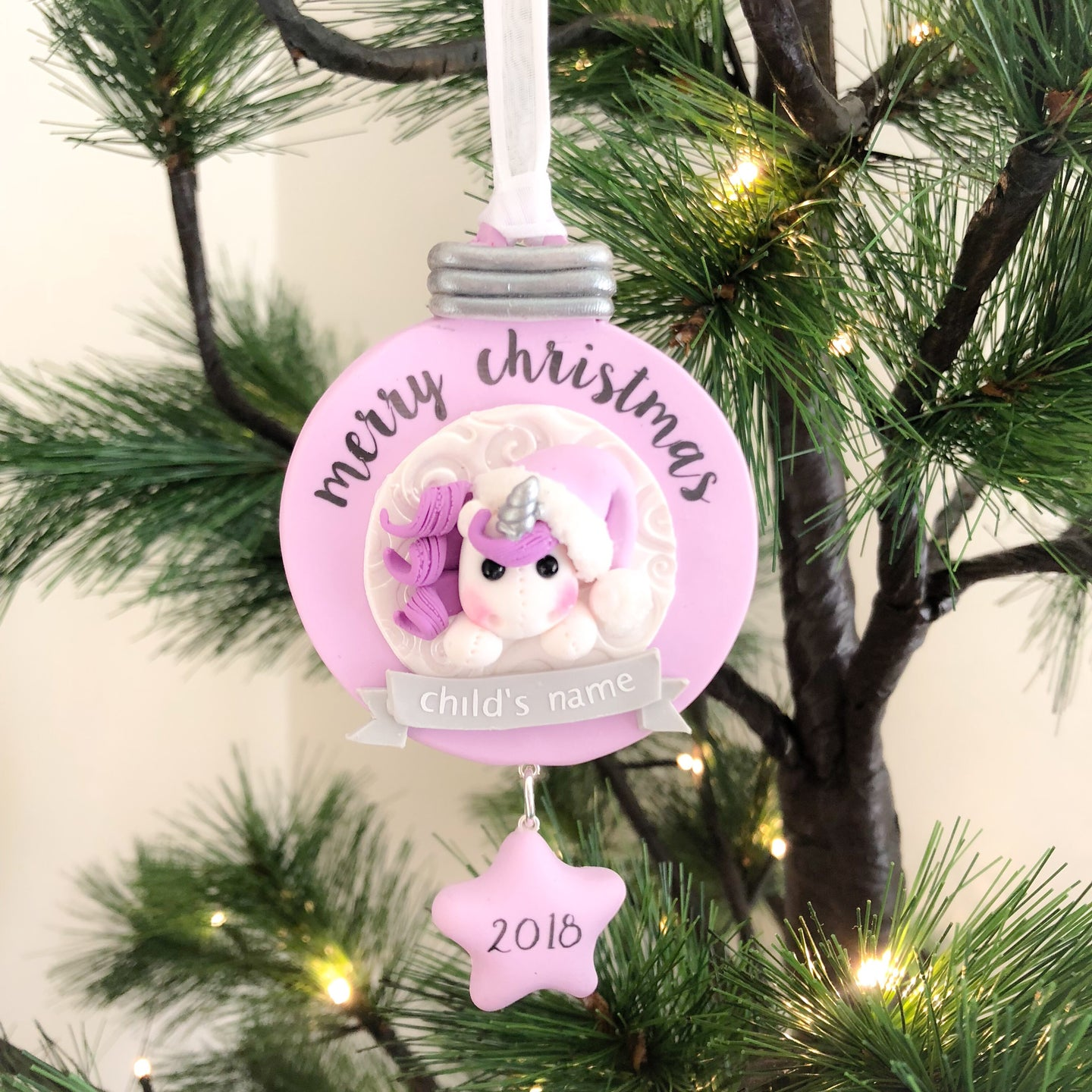 Christmas Unicorn Hanging Decoration