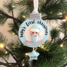 Load image into Gallery viewer, Baby's First Christmas Hanging Decoration