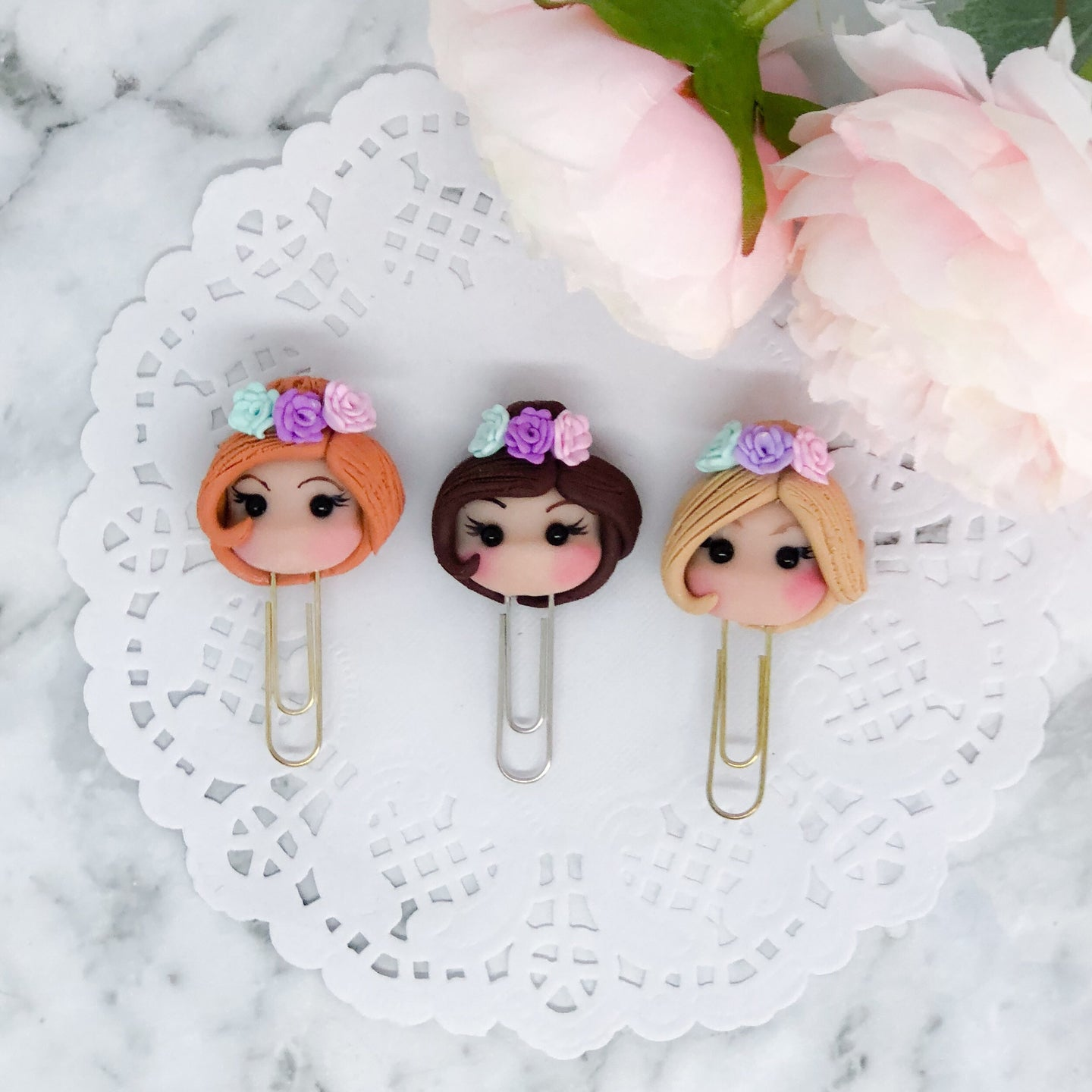 Flower Crown Planner Babe Paperclip