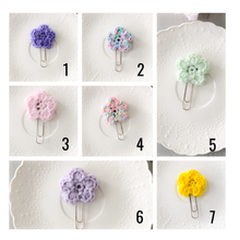 Load image into Gallery viewer, Crochet Flower Paperclip