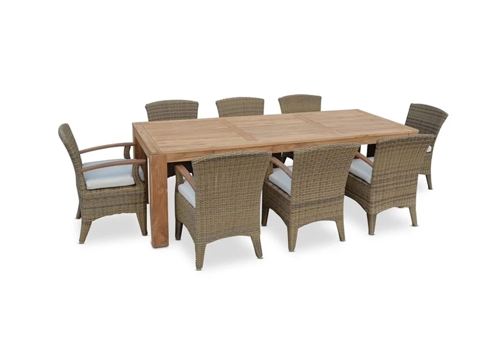 Teak Top Outdoor Dining Settings