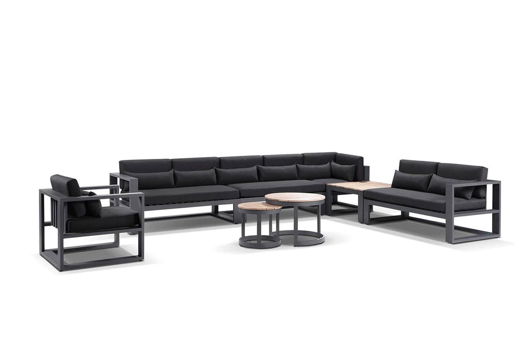 Santorini Package E in Charcoal with Denim Grey cushions