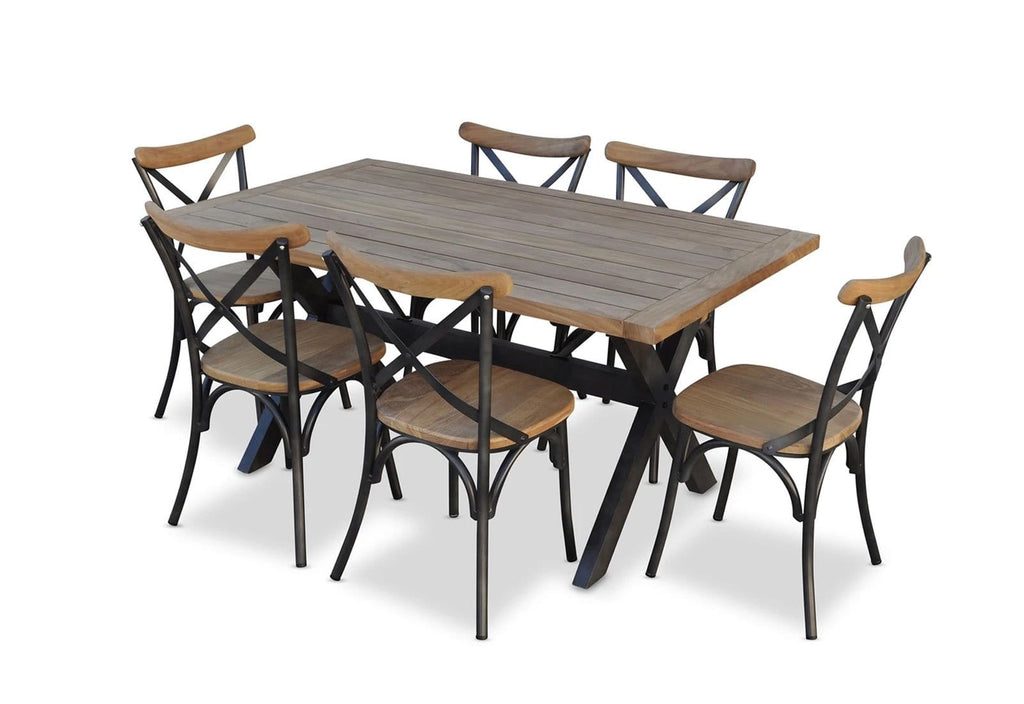 Loft 7 Piece Outdoor Teak Dining Setting