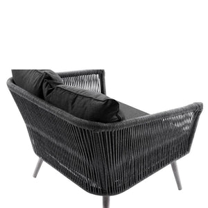 Herman Outdoor 3+2+1+1 Rope Lounge with Coffee Table Set