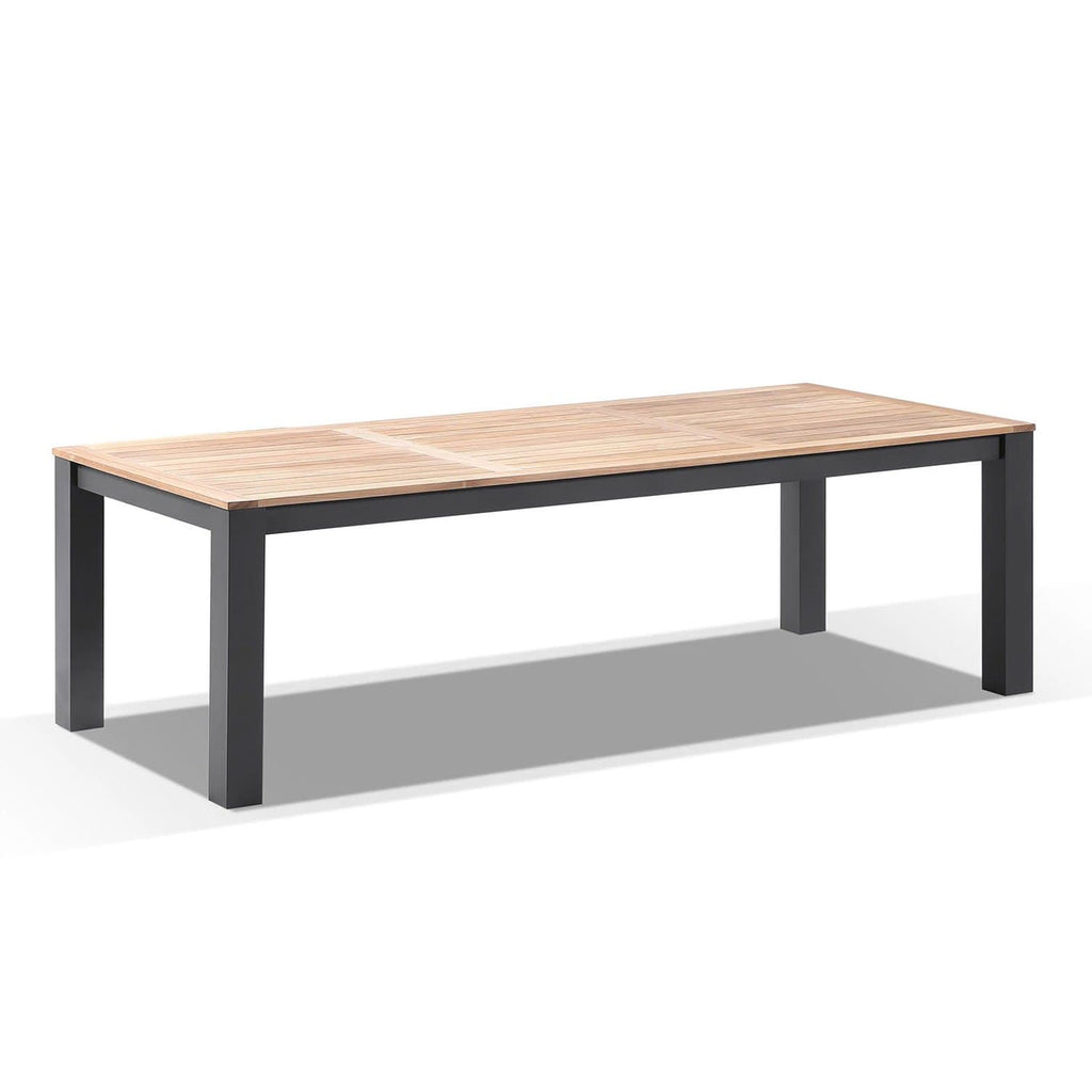 Balmoral 2.5m Outdoor Aluminium Teak Top Dining Table