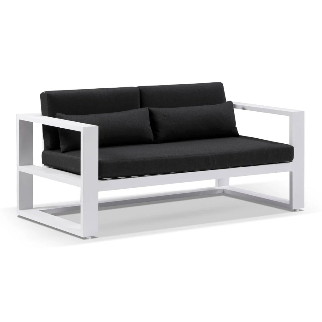 Santorini 2 Seater Outdoor Aluminium Lounge