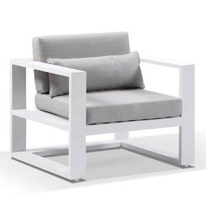 Santorini 1 Seater Outdoor Aluminium Lounge