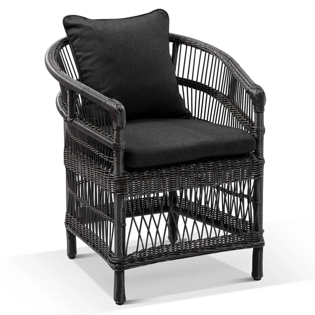 Malawi Outdoor Wicker and Aluminium Dining Chair
