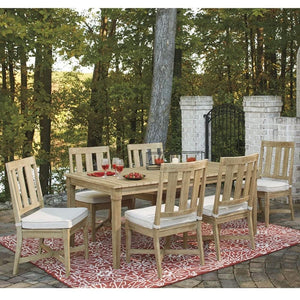 Dakota Outdoor Timber 6 Seater Dining Table and Chairs Furniture Setting