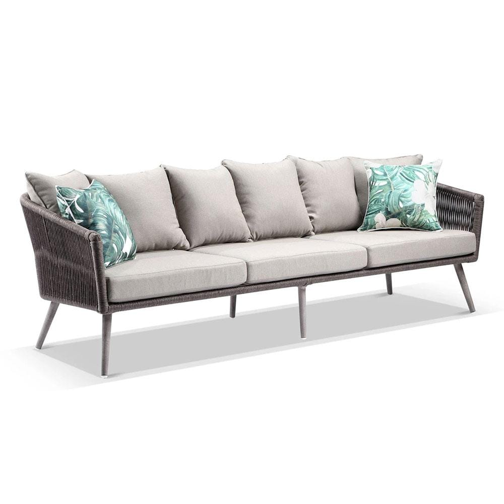 Herman Outdoor 3 Seater Rope and Aluminium Lounge