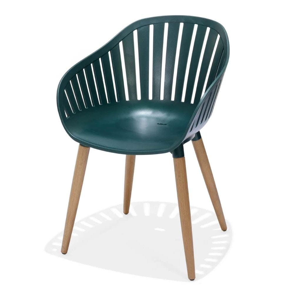Marina Outdoor Lifestyle Garden Recycled Plastic Dining Chair with Timber Legs