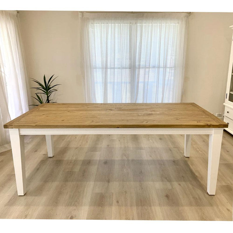 Leura Belle Rustic Rectangle 210cm x 100cm Indoor Timber Dining Table