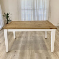 Leura Belle Rustic Rectangle 150cm x 100cm Indoor Timber Dining Table