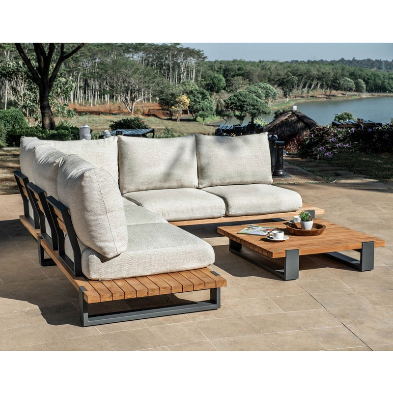Tulum Outdoor Corner Lounge Setting with Coffee Table