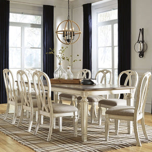 Juliet Extension Indoor Timber Dining Table and Chairs 6-8 Seater Setting