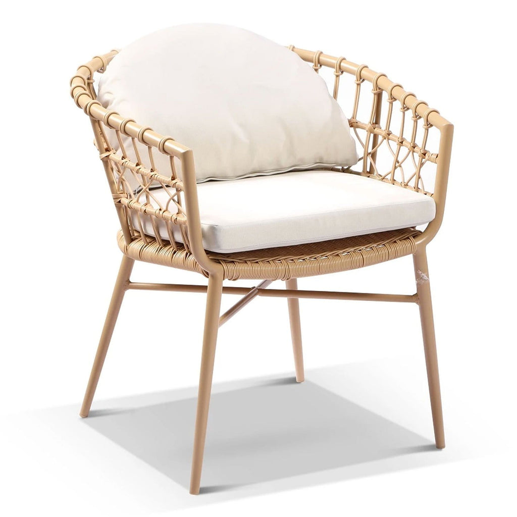 Moana Outdoor Wicker and Aluminium Dining Chair