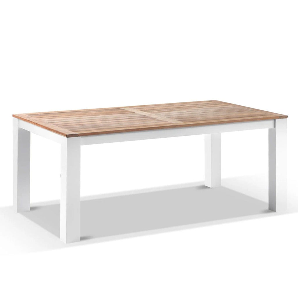 Balmoral 1.8m Outdoor Rectangle Aluminium Teak Top Dining Table