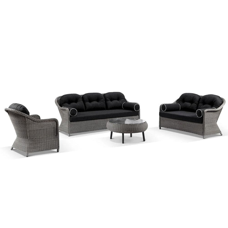 Plantation Outdoor Wicker 3+2+1 Seater Lounge Set with Coffee Table