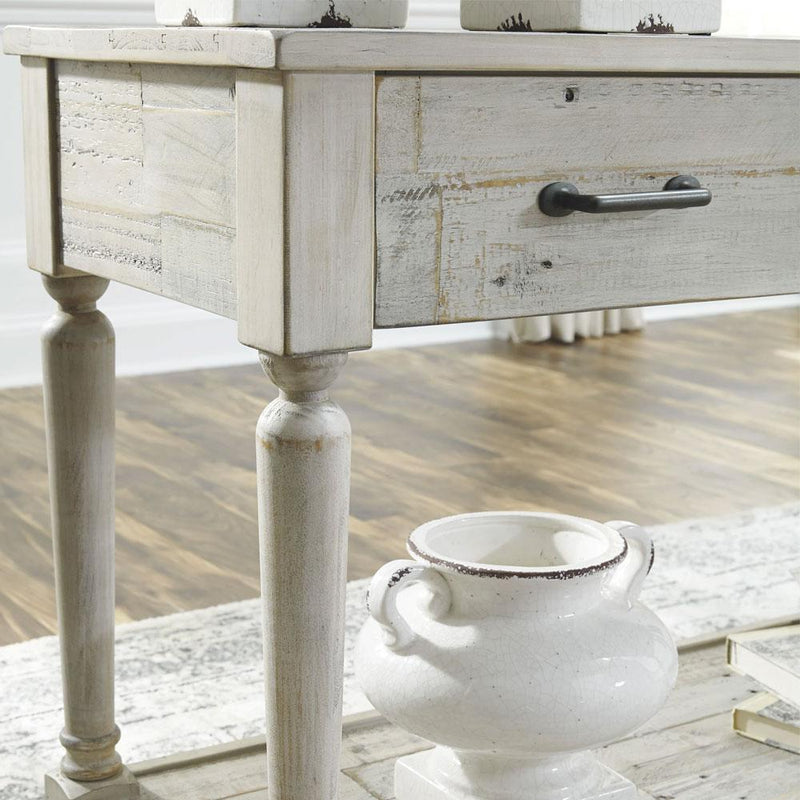 Everlyn Whitewash Finish Indoor Timber Hall Table Sideboard
