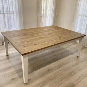 Leura Belle Large Rustic 210cm x 150cm Indoor Timber Dining Table