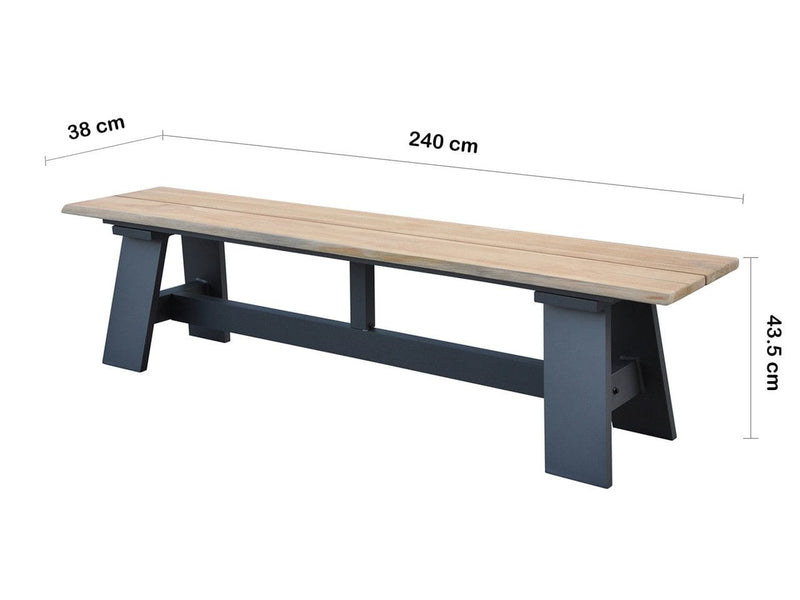 Brooklyn 2.4m Bench Seat