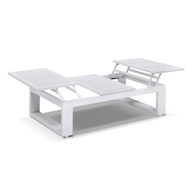 Santorini 3+2+1 with Coffee Table in White