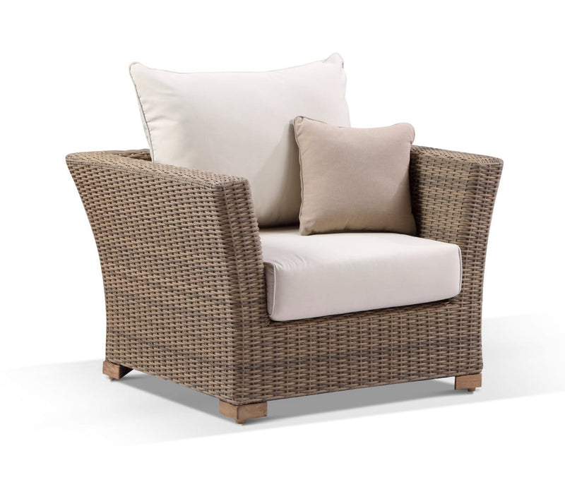 Coco 1 Seater - Outdoor Wicker Arm Chair Rattan