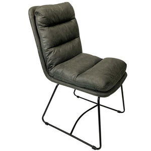 Atlas Indoor Grey Fabric Dining Chair